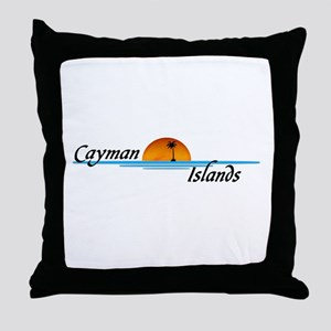 Cayman Islands Sunset Throw Pillow